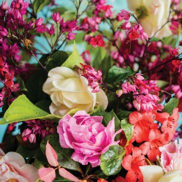 Bloemen voor de 100e deelnemer